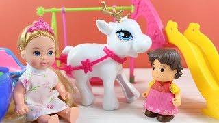 Clara Ve Heidi Küçük Prenses İle Tanışıyor Oyun Parkında Oyun Oynuyorlar