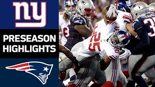 Giants vs. Patriots | NFL Preseason Week 4 Game Highlights