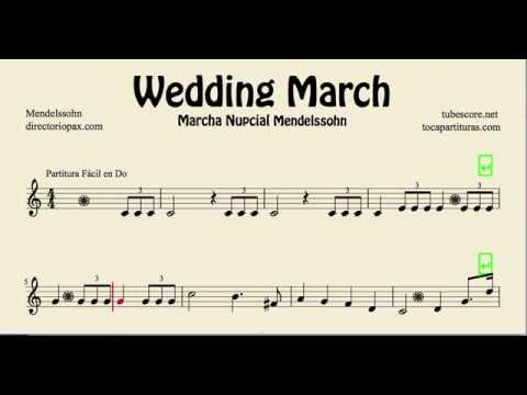 Mendelssohn Wedding March Easy Sheet Music For Recorder Violin And Oboe You