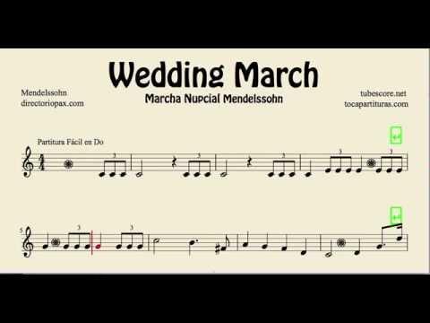 Mendelssohn Wedding March Easy Sheet Music for Recorder ...