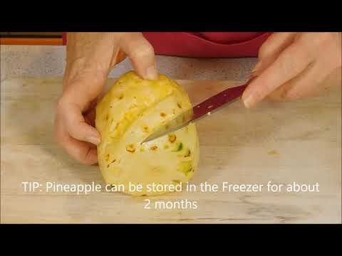 How to Cut Pineapple Properly - Peel a Pineapple    Quick Tip Tuesday E2