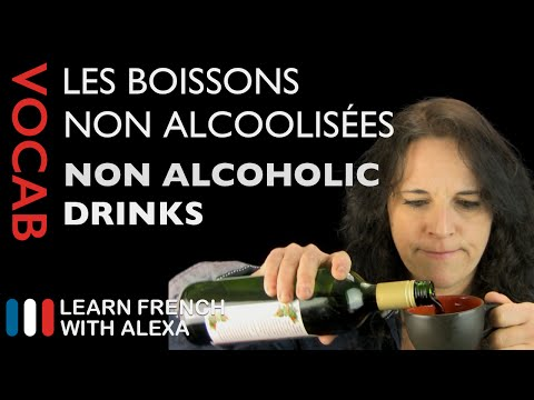 non-alcoholic drinks in French (basic French vocabulary from Learn French With Alexa)