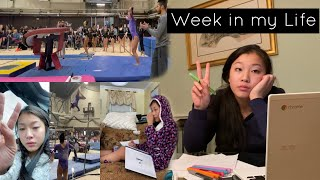 WEEK IN MY LIFE... *midterm edition* (level 10 gymnastics meets, mental breakdowns, studying, +more)