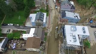 Ellicott City Main Street Flood Damage Drone Video, May 28, 2018