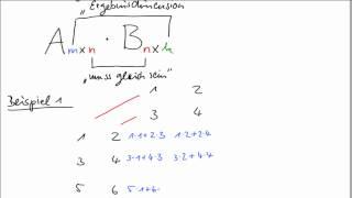 Matrizenmultiplikation mit Falk-Schema und in Excel
