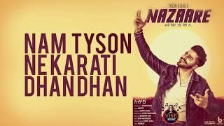 Nazare Punjabi Song Tyson Sidhu - Lyrical Video - Latest Punjabi Song 2019