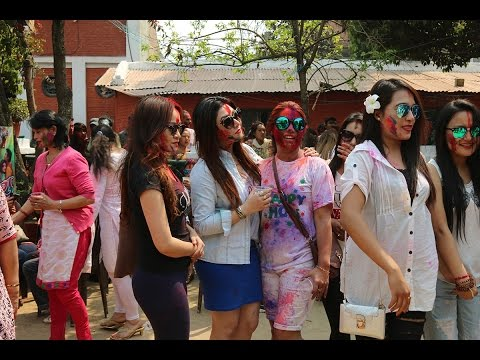 Holi Celebration at Nepali actress Karishma