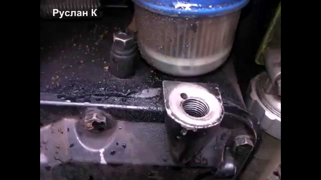 Замена масла в двигателе мотоблока - YouTube