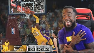 Scored 100 POINTS w/ Backboard Breaking Lebron James! NBA 2K18 MyTeam