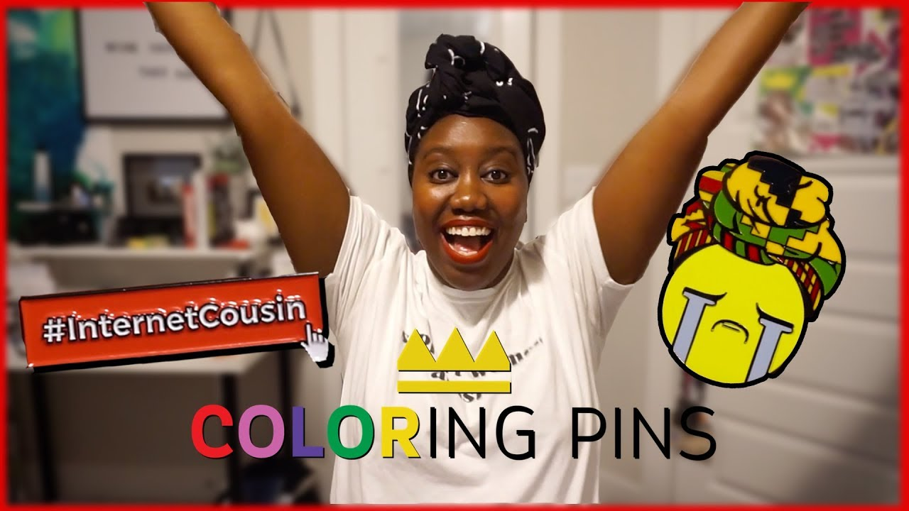 Evelyn From The Internets: New Merch! | My Collab w/ Coloring Pins (Black Owned)