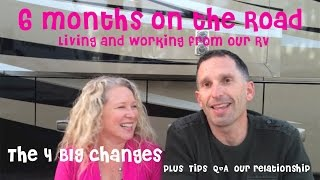 6 months full time on the road in our rv our top 4 big changes tips q relationship