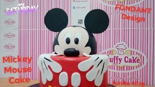 Mickey Mouse Head Cake Topper / Fondant Cake Decorations / Puffy cake