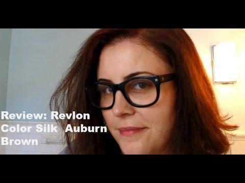 Review Revlon Color Silk Auburn Brown Hair Color Youtube