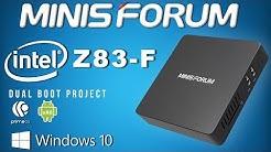 Minisforum Z83-F Intel Windows 10 Fanless Mini PC Review - Dual Boot PrimeOS