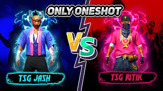TSG 冬 JASH VS TSG 冬 RITIK    CLASH SQUAD BATTLE WHO WIN - ONE SHOT ONLY - Garena Freefire