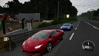Forza 7 Drag race: Lamborghini Huracan LP610-4 vs Audi R8 V10 Plus