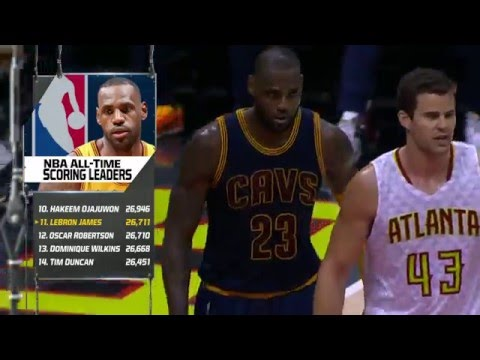 LeBron James Passes Oscar Robertson on the NBA