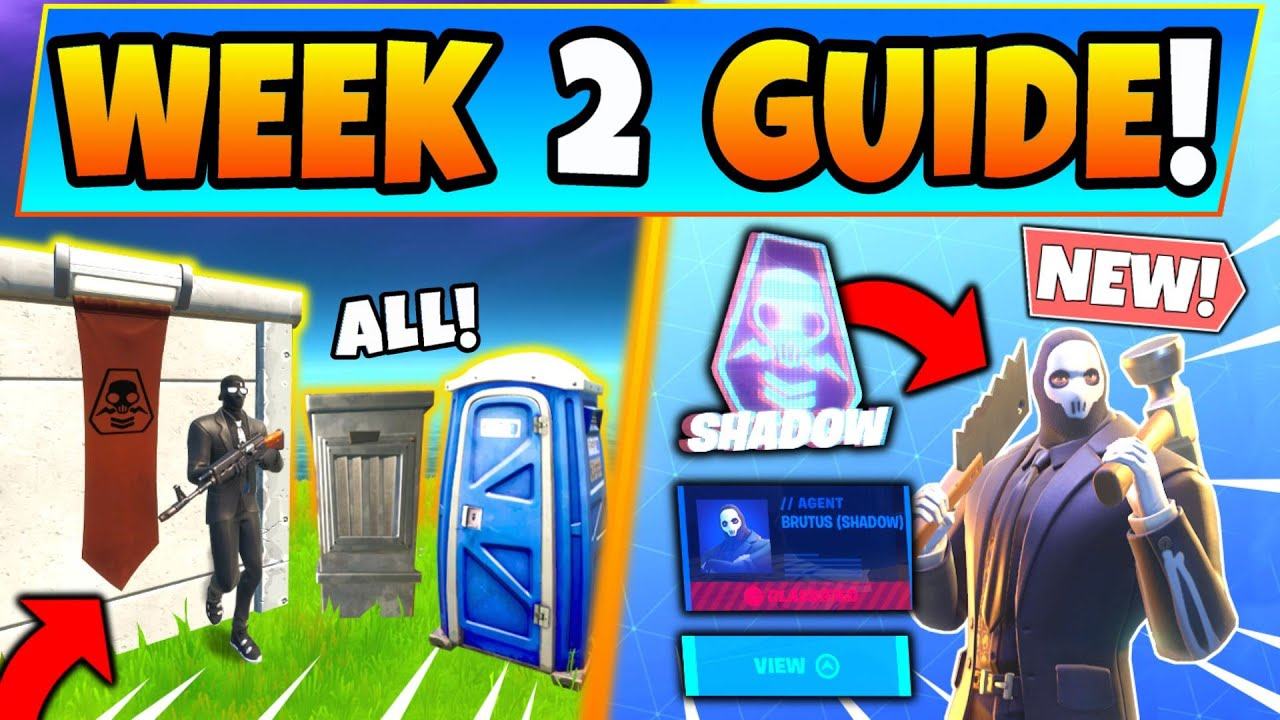 Fortnite Shadow Safe Houses Week 2 Challenges Guide Brutus Briefing In Battle Royale Season 2 Youtube