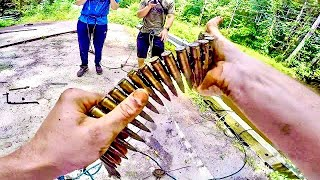 Magnet Fishing At The Grenade Bridge!! You Will Not Believe What We FOUND!! (CRAZY DAY)