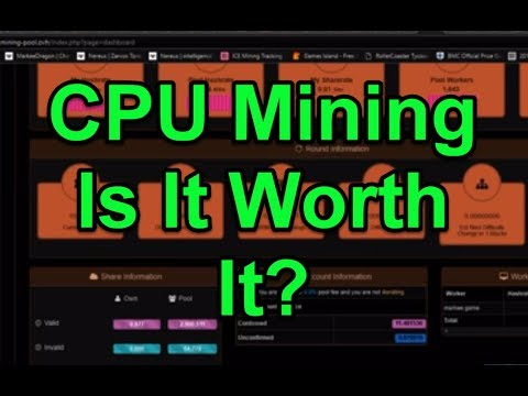 Make Money CPU Mining? - Example and Demonstration | UPDATE: Currently Worth Mining!