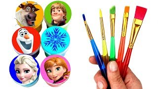 FROZEN 2 Drawing & Painting with Surprise Toys Elsa Anna Olaf Kristoff Sven Creative Fun for Kids