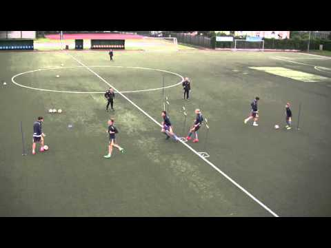 Passing and Receiving drill in Diamond Shape for Soccer
