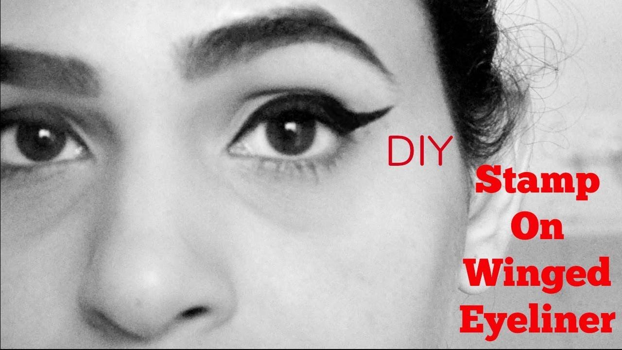 DIY Stamp On Eyeliner