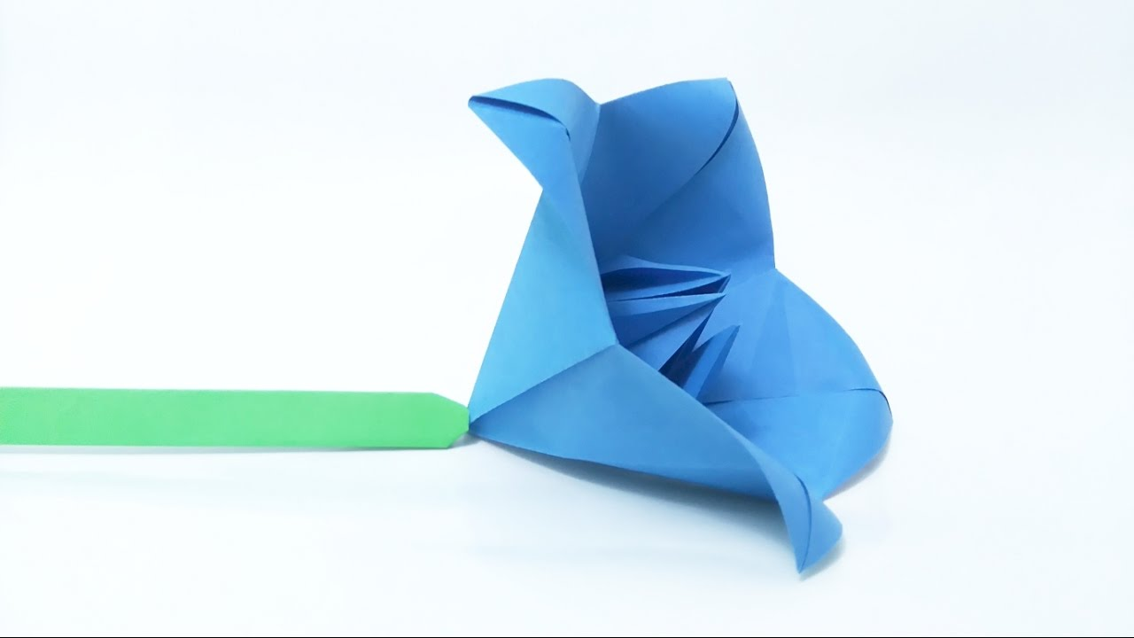How to make origami bellflower campanula youtube mightylinksfo