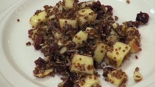How To Make Quinoa Apple Cranberry Salad