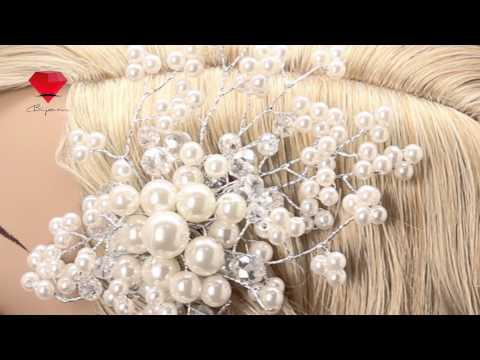 Bije.ru: Свадебная заколка для волос с искусственными жемчужинами Kirstenit (Кирстенит)