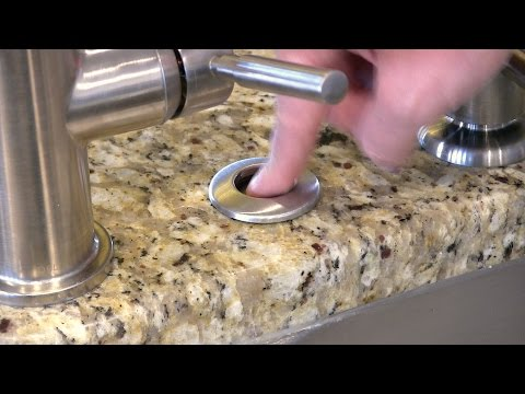 How to install a Garbage Disposal Button - InSinkErator SinkTop Switch STS-SO