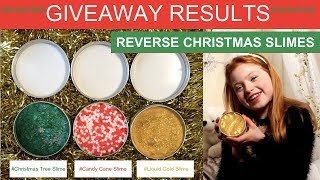 SLIME GIVEAWAY RESULTS | REVERSE SLIME CHALLENGE | RUBY ROSE UK
