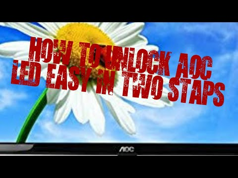How to unlock osd on AOC monitor