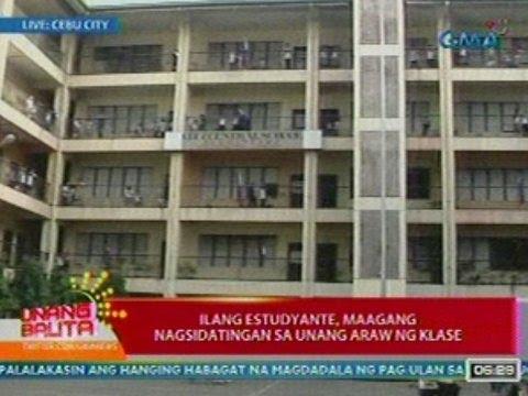 UB: Ilang estudyante ng Cebu City Central Elementary School, maagang nagsidatingan