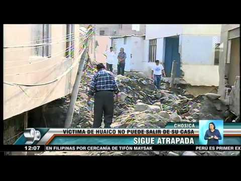 Chosica: Víctima de huaico sigue atrapada en su casa tras catástrofe