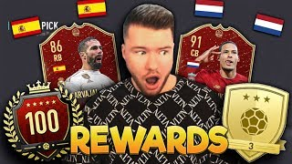 FIFA 20: TOP 100 vs GOLD REWARDS 🔥🔥 WEEKEND LEAGUE PACK OPENING