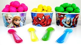Learn Colors Play Doh Ice Cream Balls and Paw Patrol Surprise Toys