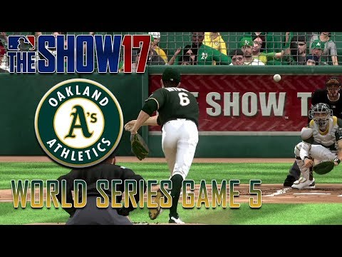 MLB The Show 17 - Custom Oakland Athletics - World Series Game 5