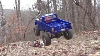 Scale Adventures - Jumping Bashing and Crashing with our RC Crawlers