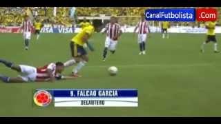 Gol de Falcao en partido Colombia vs Paraguay 1-0 12 de octubre de 2012