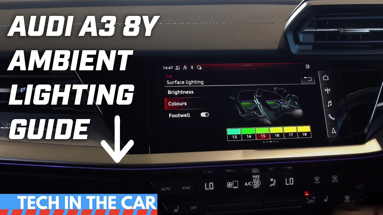 2021 Audi A3 8Y Ambient Lighting Guide - YouTube