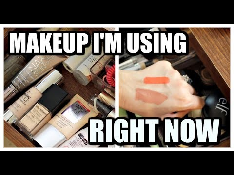 MAKEUP I'M USING RIGHT NOW   Everyday Makeup Drawer