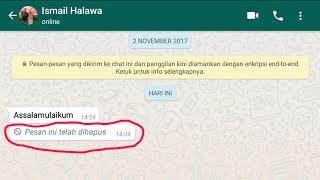 Cara Melihat Isi Pesan WhatsApp Yang Telah Dihapus si Pengirim