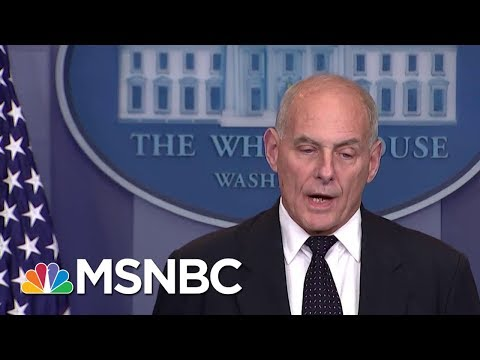 President Donald Trump And Chief Of Staff John Kelly Seem To Disagree On Border Wall | MSNBC