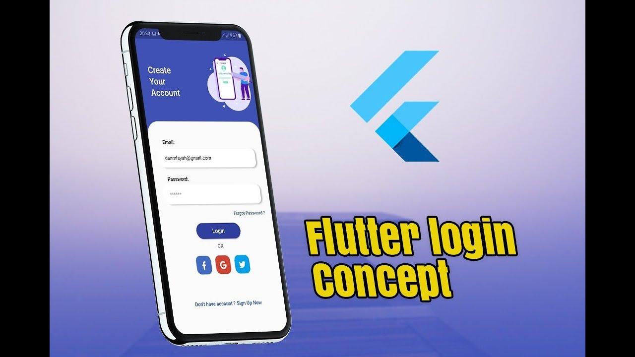 Flutter Login UI Concept - Speed Code