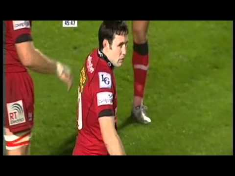 Richard Fussell try against the scarlets.AVI