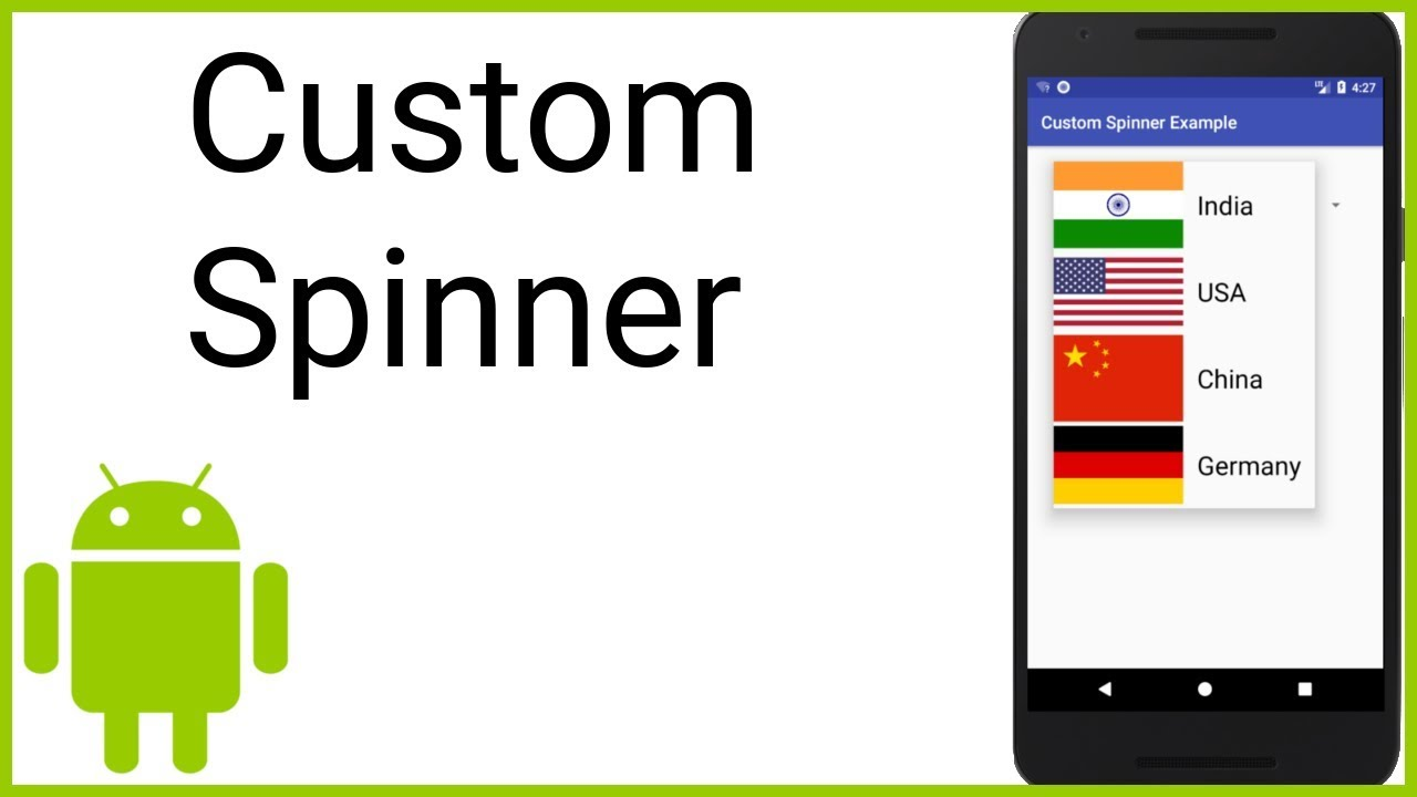 Custom Spinner - Android Studio Tutorial