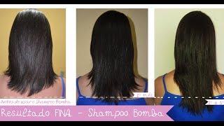 Como fazer seu cabelo crescer mais rápido - Resultado final do Shampoo Bomba ♡Maria Clara Gonc