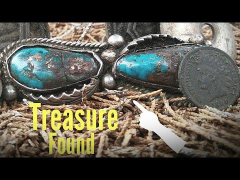 HUGE! Native American Silver & Turquoise Treasure   Metal Detecting Florida