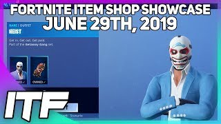 Fortnite Item Shop *NEW* HEIST SKIN! [June 29th, 2019] (Fortnite Battle Royale)